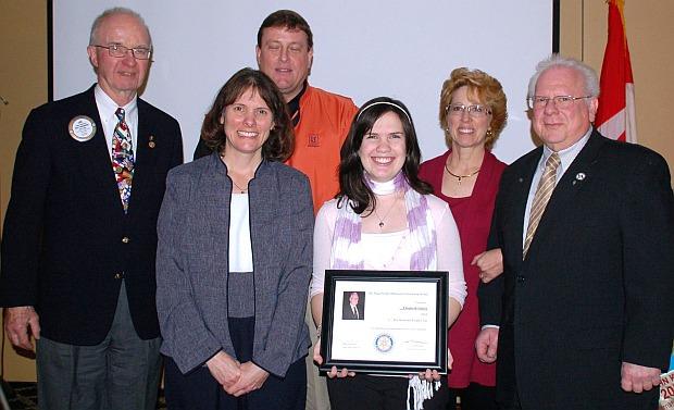 2010 Hugh Archer Memorial Scholarship winner Elizabeth Schick