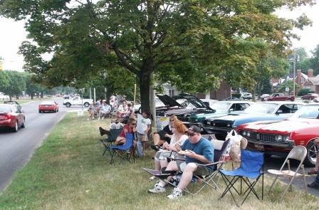 The parking lot of Cherry Hill Presbyterian church