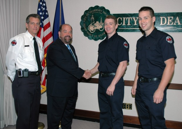 two new firefighters