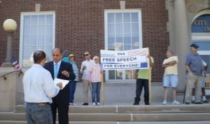 Free Speech Rally in Dearborn