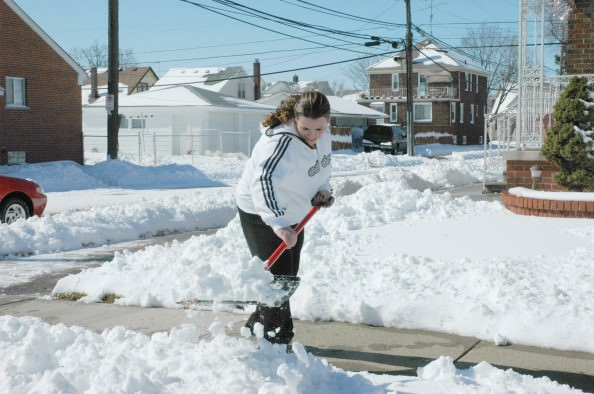 Remove snow from sidewalks within 24 hours of a snowfall, but don't put snow in the street or on your neighbors' property. Keep parked vehicles off the street to allow for efficient snowplowing.