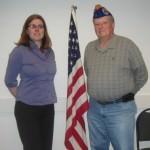 Edsel Ford teacher Lisa Lark and Commander Craig Tillman