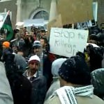Stop the Killing in Libya - Protestors in Dearborn