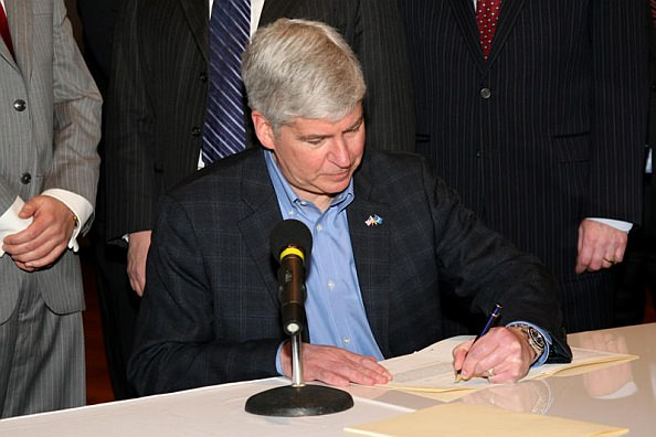 Governor Rick Snyder Signing Pure Michigan Bill