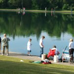 Children enjoy the Camp Dearborn fishing derby. It is now in its 15th year and will take place on Sunday, June 12.