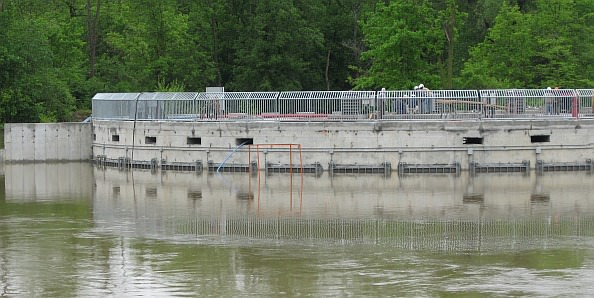 Workers at the Combined Sewer Overflow (CSO) on May 27, 2011