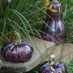 "Glass pumpkins available for purchase at the Glass Academy's ""Glass Pumpkin Fest Show & Sale"". Photo credit: M. Plucinsky"