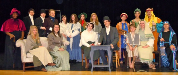 From left: (standing) (Magi) Teria Berry, Kevin Talanges, Spencer Venis, David Nycz, Deanna Dib, Katelyn Harrison, Meredith Brehob, Lauren Wycka, (Amahl) Nathan Booth, Lucas Ramone, Benjamin Timpf; (seated) (Magi) Lily Melekian, Clare Russell, Meara Thierry, Errick Lisk, (Amahl) Brendan Hay, Annelise Folkema, Michael Nelson.