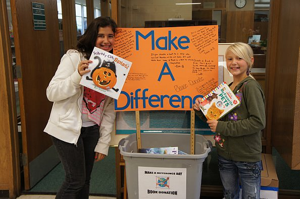 Book Donations - Make a difference day at Dearborn Heights Montessori