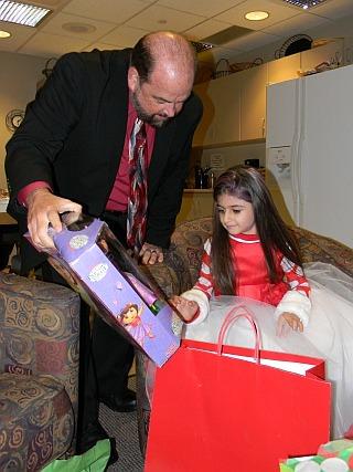 Five-year-old Amara El-Mahmoud turned on lights Dearborn's Christmas Tree