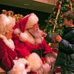 Tugging on Santa's Beard