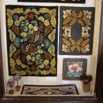 A sample of a work by the Michigan Rugg Artistes Guild of Dearborn on display now at the McFaden Ross House. A special reception, open to the public is on April 11.