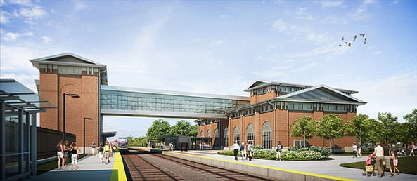 The New Intermodal Passenger Rail Station in Dearborn, Michigan