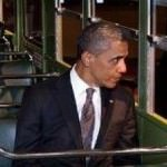 President Barack Obama on the Rosa Parks Bus in Dearborn