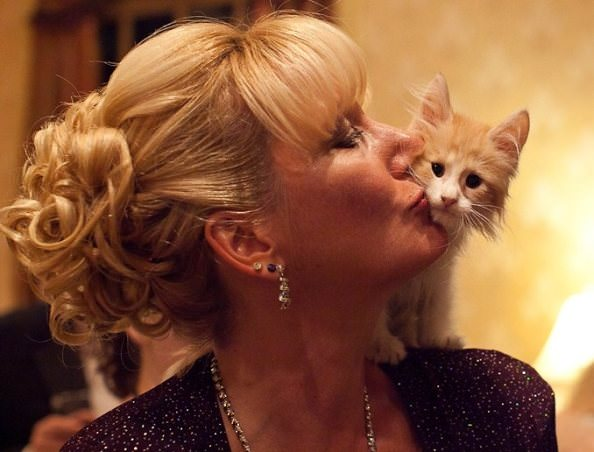 Guest Janet Wright with a 2011 feline frontrunner