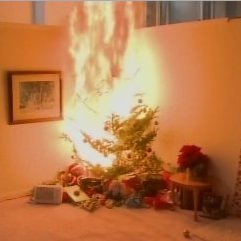 Burning Christmas Tree