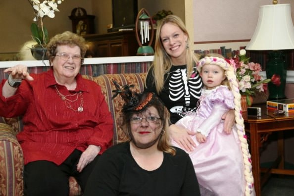 Four Generations celebrate Halloween