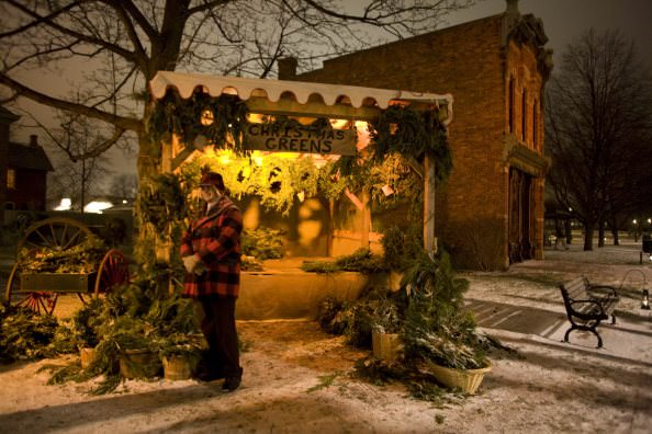 Greens Market at Holiday Nights in Greenfield Village - Dearborn, Michigan