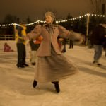 Ice Skater at Holiday Nights in Greenfield Village - Dearborn, Michigan