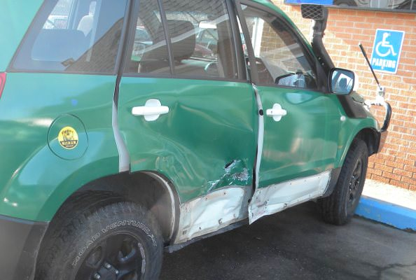 The Richards' damaged SUV before being repaired by Korte's Collision