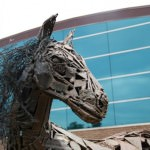 Life-size Horse is Dearborn's February Featured Sculpture