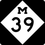 M 39 sign - Michigan Highway