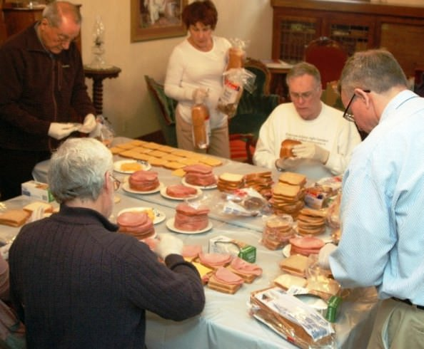 Dearborn Rotary assists Salvation Army - making lunches