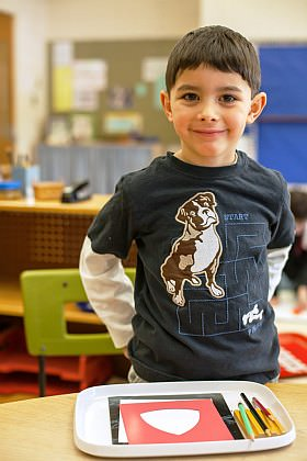 Luis Rodriguez, age 4, attends preschool at Dearborn Heights Montessori Center.