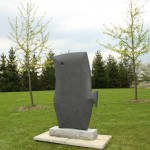 Off the Diet 4 from the Thin Series is the April sculpture of the month. Created by Blissfield, Michigan sculptor Kenneth M. Thompson