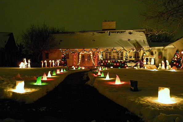 Christmas decorations across Dearborn reflect many tastes to mark the festive  season. The City Beautiful Commission included 311 Hampshire Court in its  annual Dearborn Aglow honors.