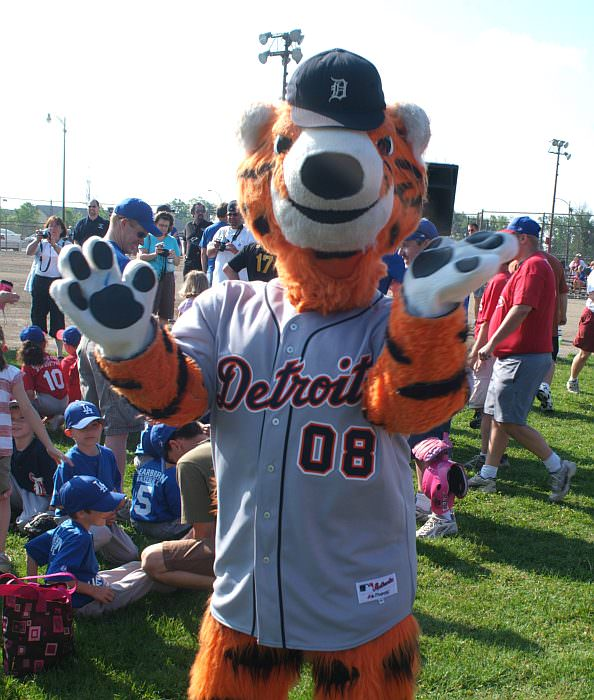 The Detroit Tigers mascot, Paws