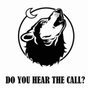 Do you hear the call? - howling wolf dog