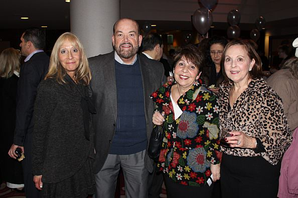 Saturday Night Alive honorary committee members Christine O'Reilly, Mayor John B. O'Reilly, Jr., Kari Guido and guest Karen Nigosian at the February 1 fundraiser for Dearborn's  Michael A. Guido Theater at the Ford Community and Performing Arts Center.