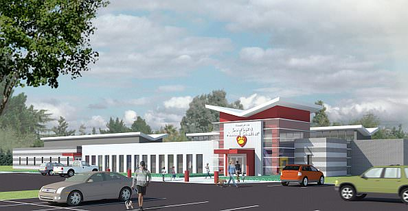 Architectural Rendering of the proposed new Dearborn Animal Shelter