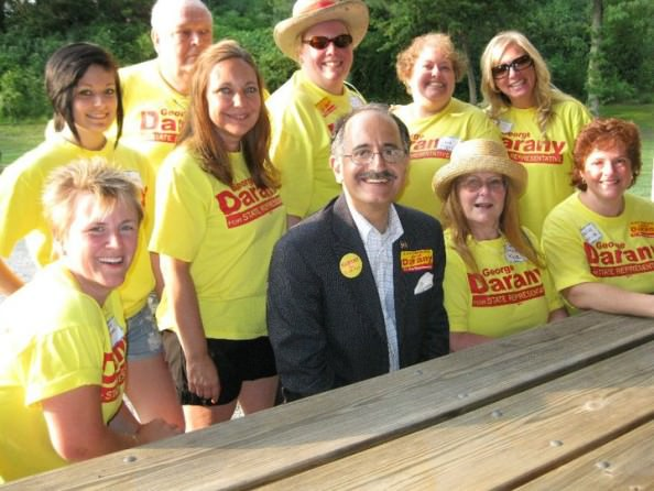George T. Darany and local supporters.