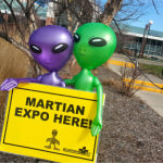 The first Martians arrived on Friday morning for the Martian Expo at the Ford Community and Performing Arts Center in Dearborn