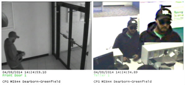 Possible bank robbery suspect