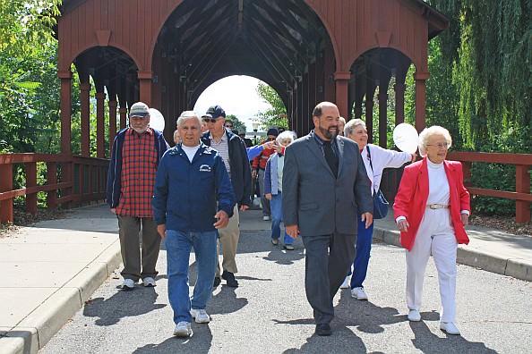 At Elderfest 2013, Mayor John B. O'Reilly, Jr. led the Fun Walk. He will join  seniors again on Sept. 5 at Ford Field Park.