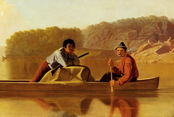 The Trappers' Return - by George Bingham, 1851