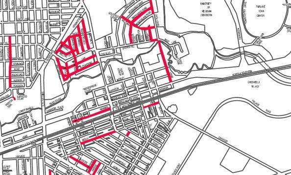 Dearborn roads - joint sealing (pothole preventton) map - click for more details.