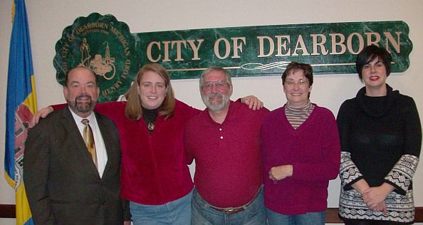 DFNA dated file photo from 2011 - Left to right: Mayor O'Reilly, Jane Ahern, Ned Nikodem, Mary Petlichkoff, Maureen McIlrath