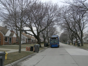 Clear street for PSD with Republic truck