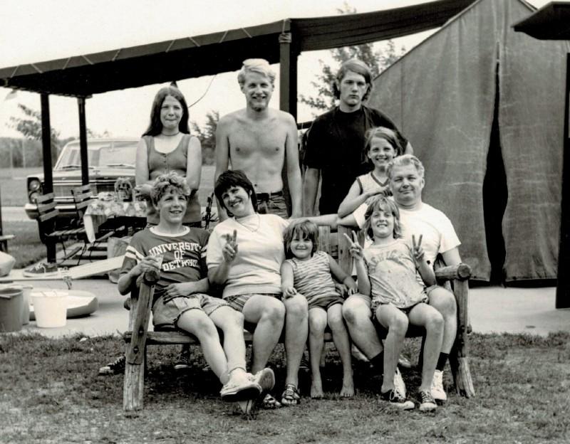 Arthur Jones - with Daniel Jones family at Camp Dearborn